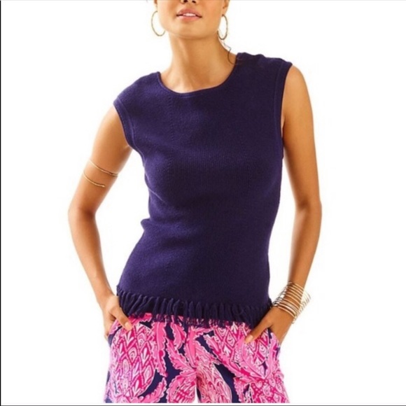 Lilly Pulitzer Wellington Sweater True Navy